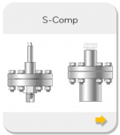 Threaded seals with large diaphragm and separable mounting part